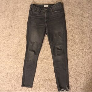 Grey Levi's High Waisted Skinny Jeans Style 721